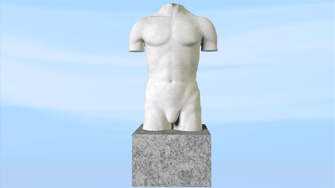Wellspect Lofric Sculpture male torso