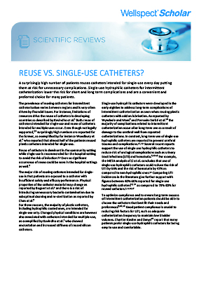 Reuse Vs Single-use Catheters