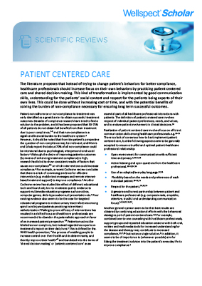 Patient Centered Care - 72702
